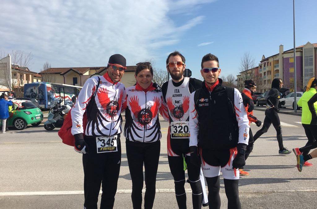 TriTeam Pezzutti al Campionato Italiano Assoluto Duathlon Sprint: Villa 1^ di categoria nell'individuale