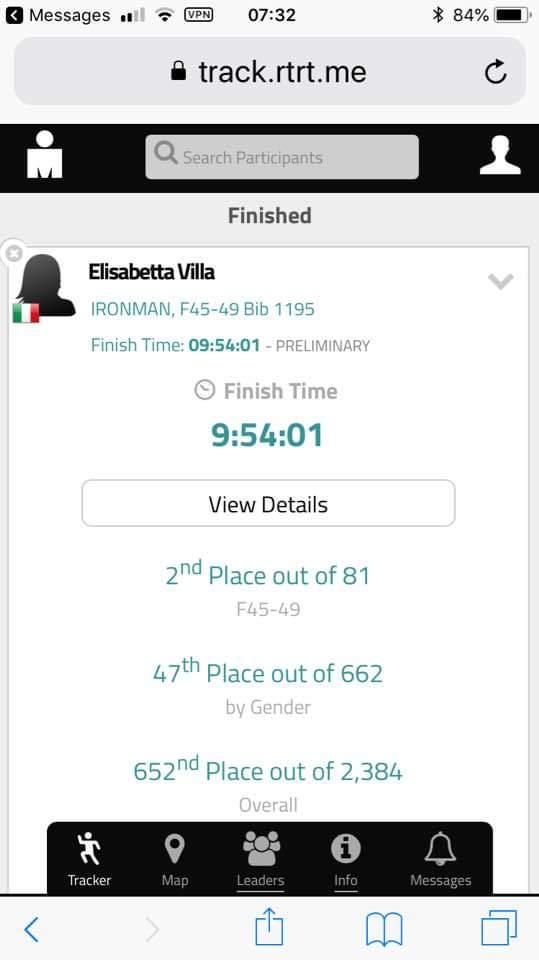 STREPITOSA ELISABETTA VILLA AL MONDIALE IRONMAN DI KONA: 2° POSTO DI CATEGORIA IN MENO DI 10 ORE!