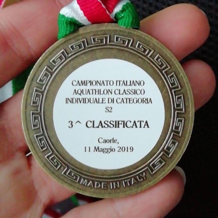 JENNY TELLAN CONQUISTA IL 3° POSTO DI CATEGORIA AL CAMPIONATO ITALIANO DI AQUATHLON, A CAORLE