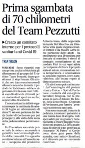 Prima sgambata di 70 km del Triathlon Team Pezzutti