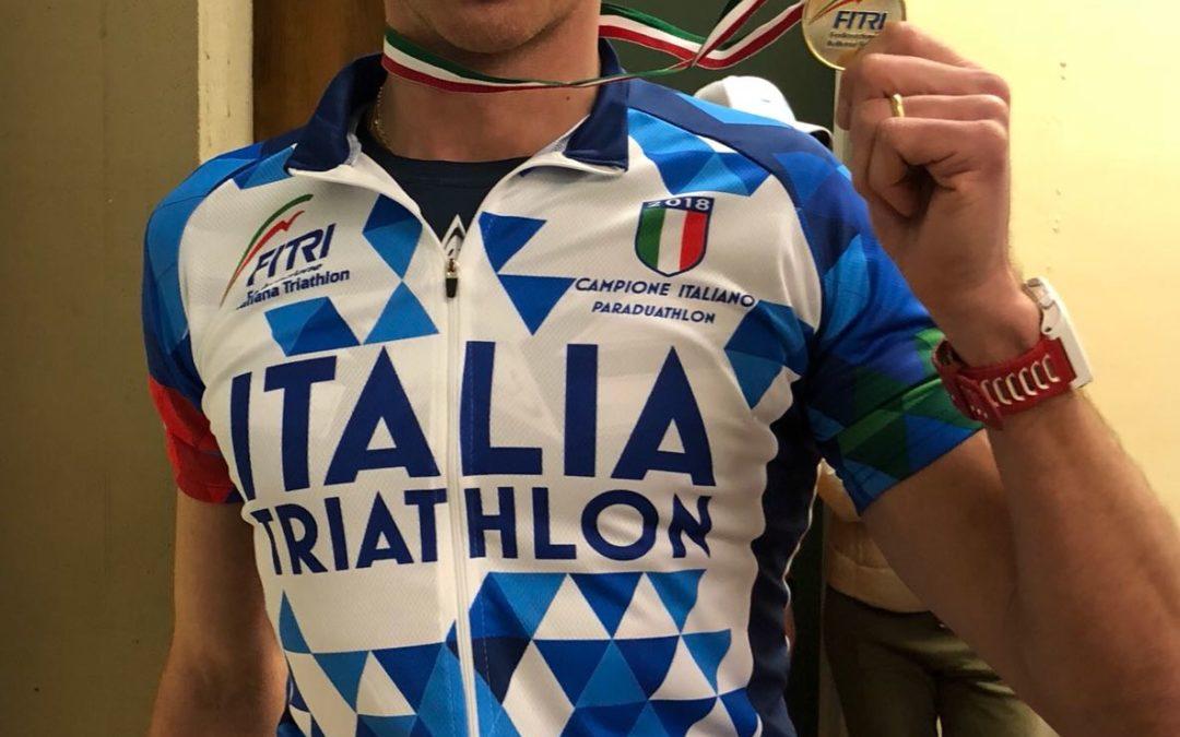 Mauro Gava si laurea campione d'Italia nel ParaDuathlon di Montelupo Fiorentino
