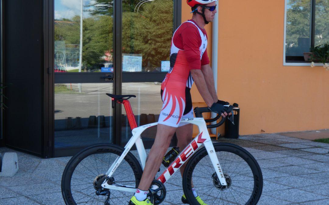 Mauro Gava all'IPS Triathlon Sprint di Alpago