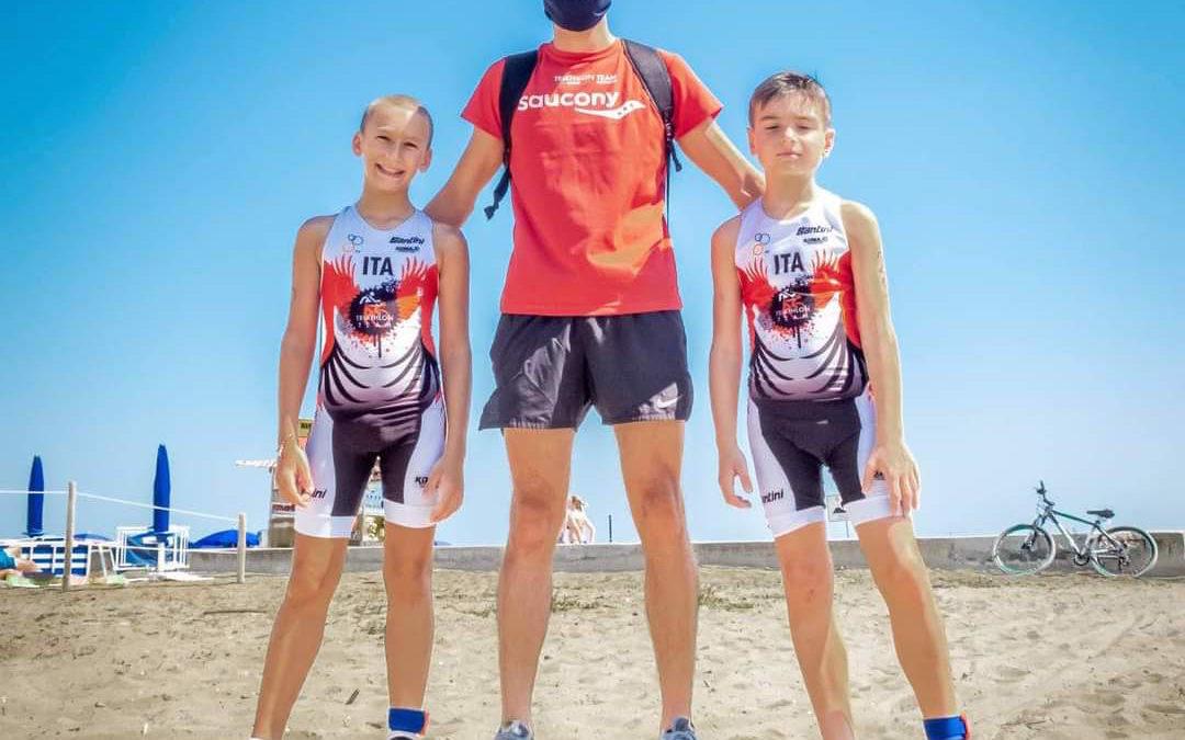 Grandi soddisfazioni per i kids del Triathlon Team a Caorle