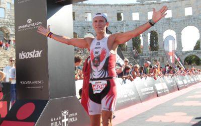 Zanusso in gara al Triathlon di Brasimone